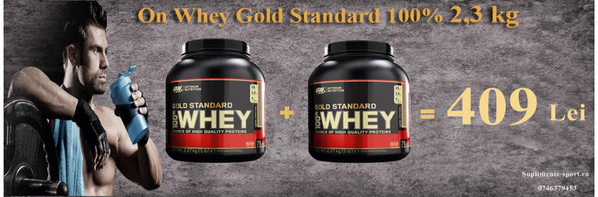 On Whey Gold Standard 2,3 kg + On Whey Gold Standard 2,3 kg