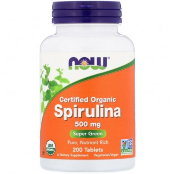 Now Spirulina 200 tab