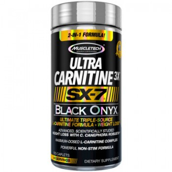 Muscletech Ultra Carnitine3X SX-7 Black Onyx 120 caps