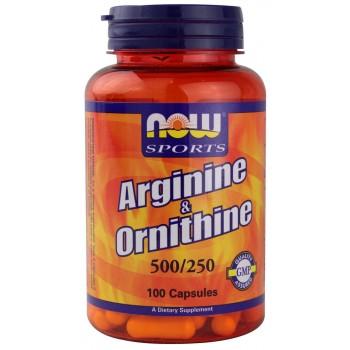 Now Arginine & Ornithine 100caps