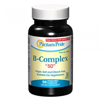 Puritan`s Pride Vit B Complex C50 mg 50 cps