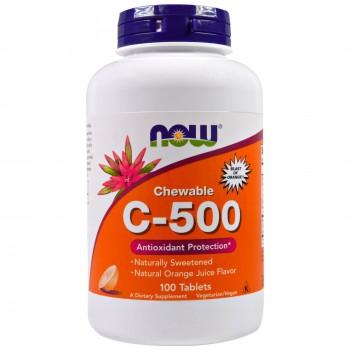 Now Vit C-500 Chewables 100 tab