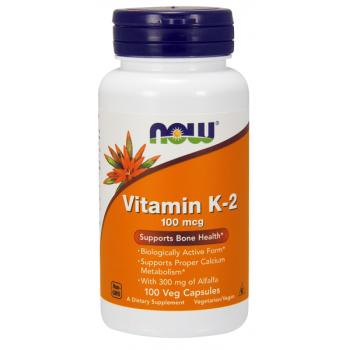 Now Vitamin K-2 100mcg 100 veg caps