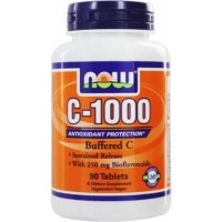 Now C-1000 Complex Buffered with Bioflavonoids 250 mg 90 tab
