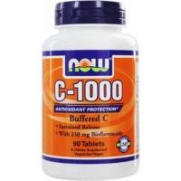Now Vit C-1000 Buffered C 90 tablete