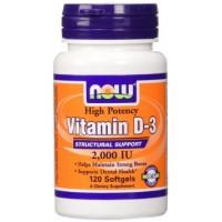 Now Vitamin D3 2000IU 120 softgels